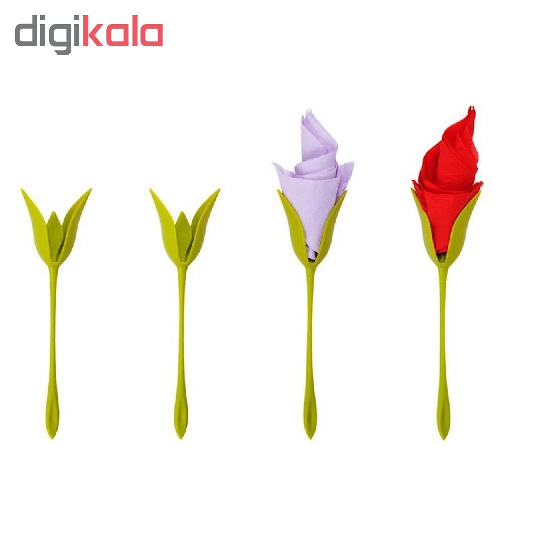 نگهدارنده دستمال طرح گل رز بسته 6 عددی main 1 4