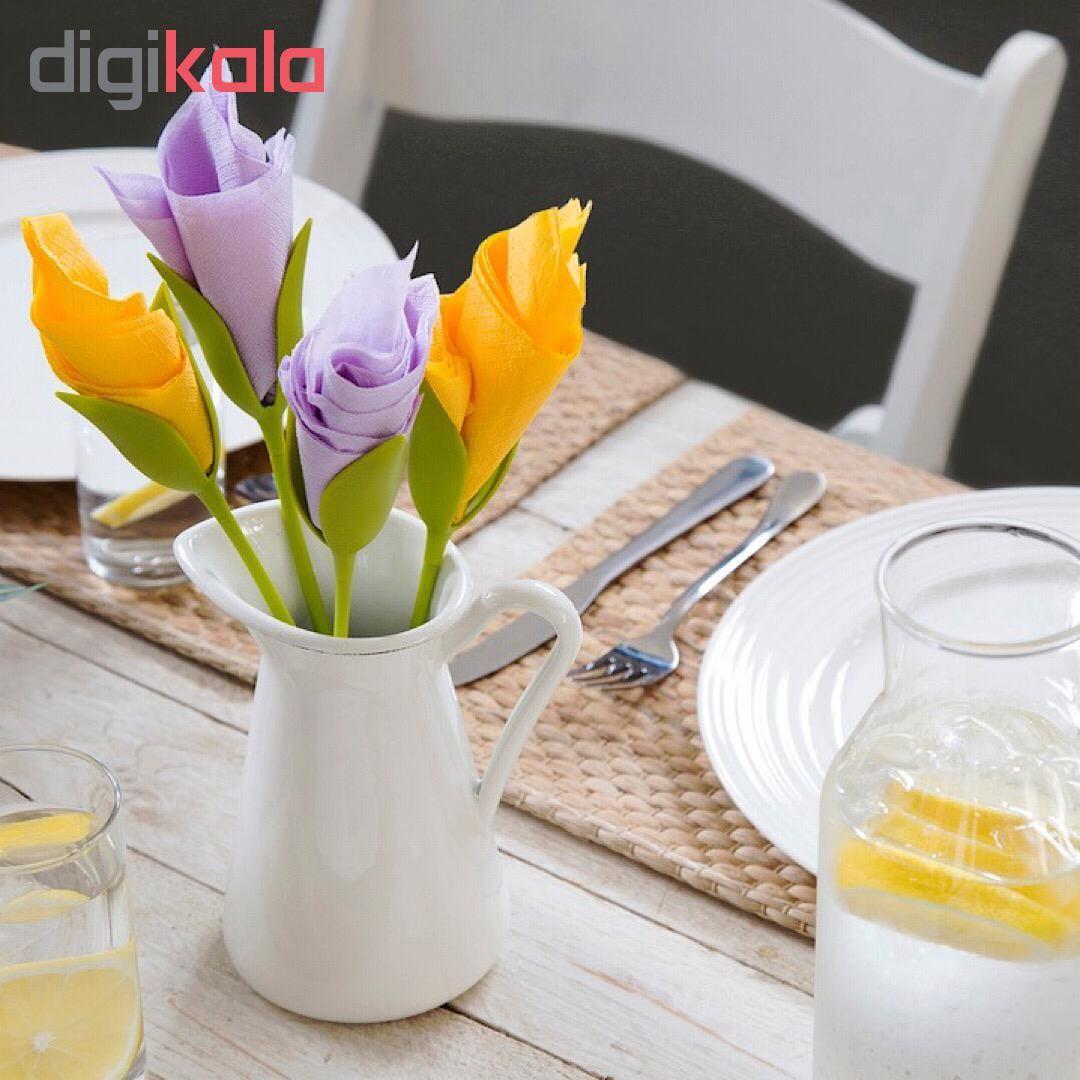 نگهدارنده دستمال طرح گل رز بسته 6 عددی main 1 1