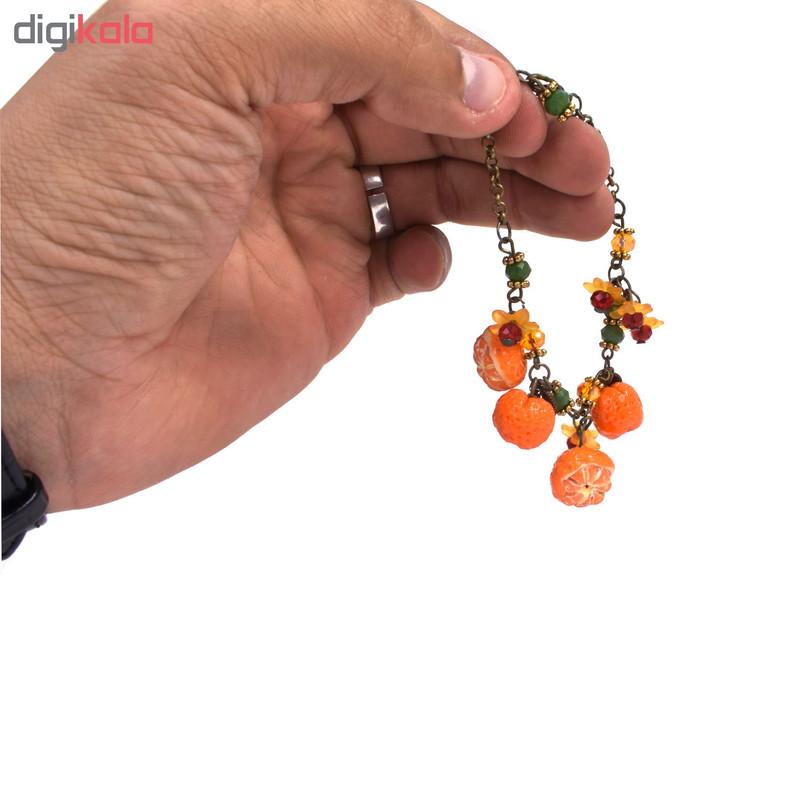 پابند زنانه طرح نارنگی کد 09