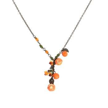 گردنبند زنانه طرح نارنگی کد 010