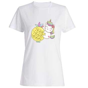 تصویر تی شرت دخترانه طرح اسب تک شاخ کد 5177