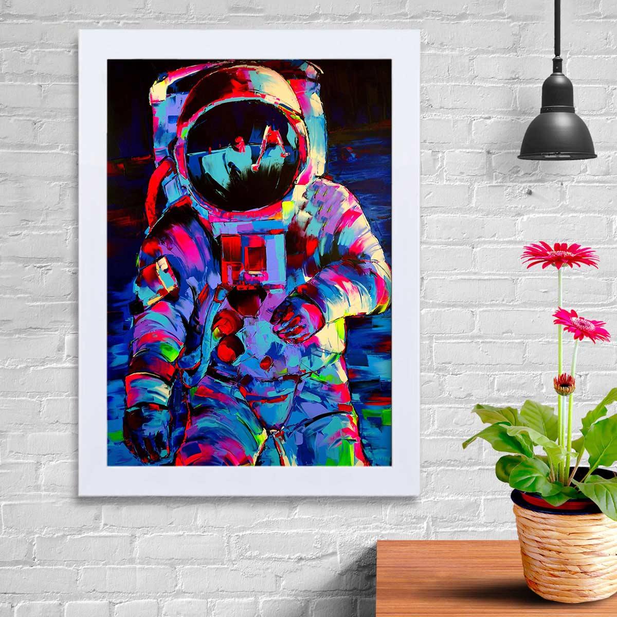 تابلو   گالری استاربوی طرح فضانورد ناسا مدل هنری KL105