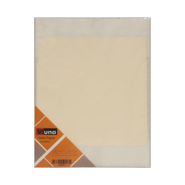 ورق طلا ویونا کد P100 بسته 100 عددی