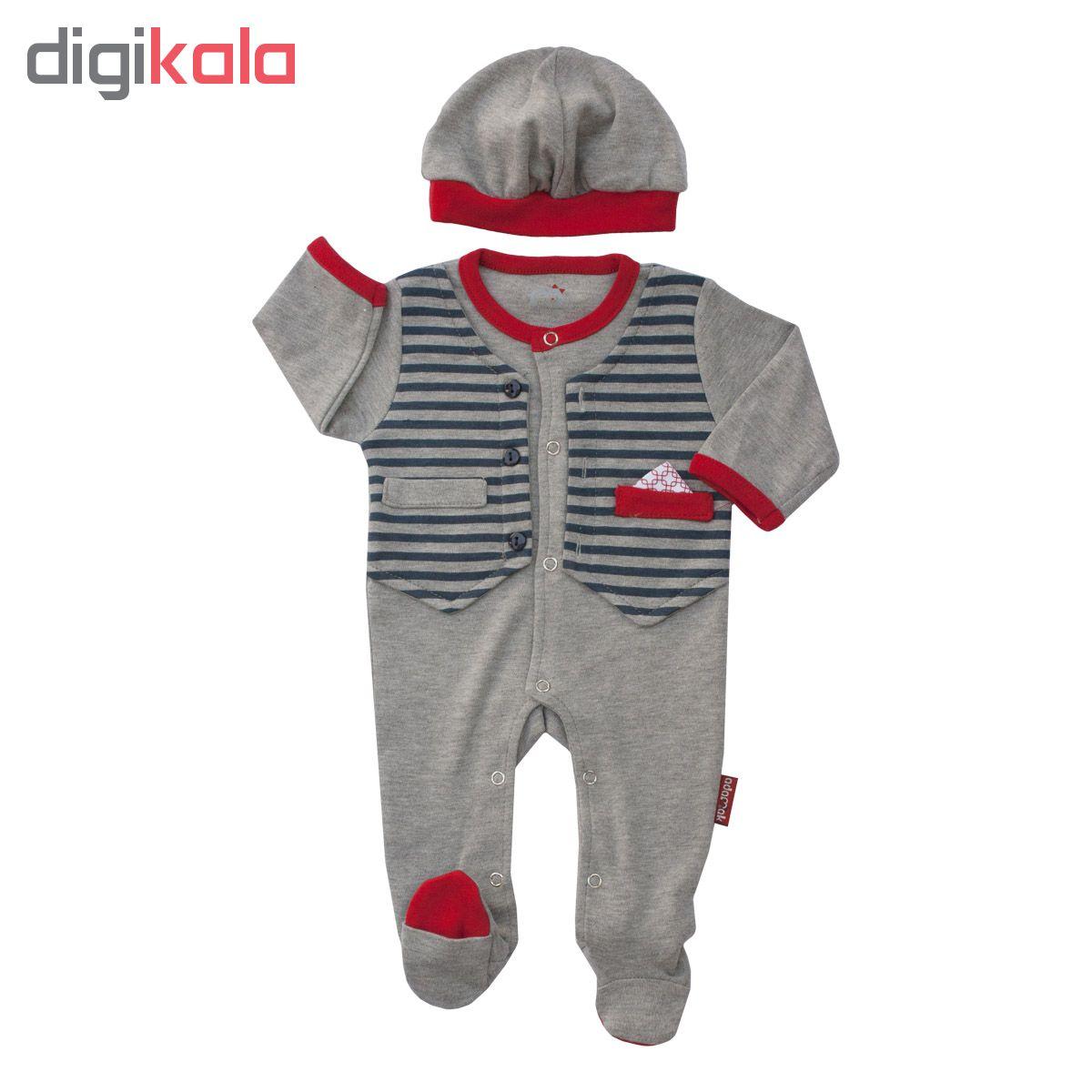 سرهمی نوزادی آدمک کد 133100رنگ طوسی