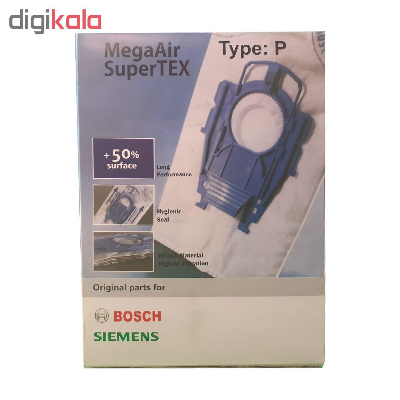پاکت جارو برقی مگاایر مدل سوپرتکس مناسب برای جاروبرقی بوش بسته 5 عددی main 1 1