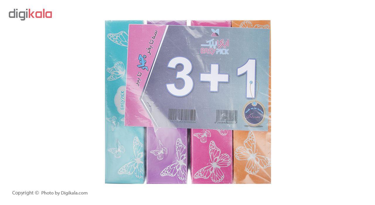 دستمال کاغذی 100 برگ ایزی پیک مدل Butterfly بسته 4 عددی main 1 1