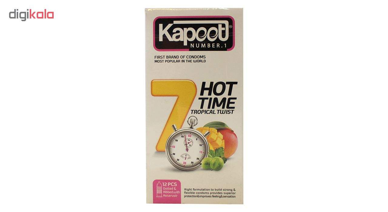 کاندوم کاپوت مدل 7Hot Time بسته 12 عددی main 1 1