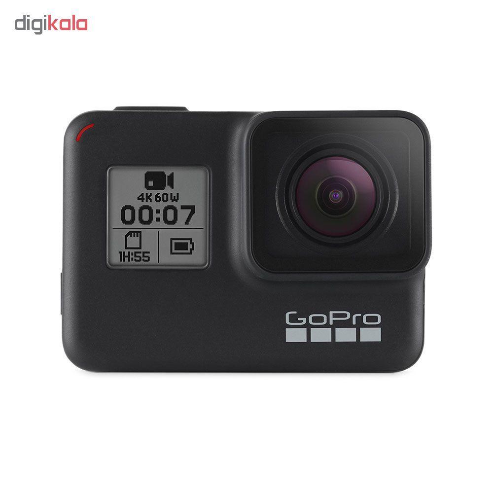 دوربین فیلم برداری ورزشی گوپرو مدل Hero 7 Black به همراه پایه مونوپاد مدل El Grande  Gopro Hero 7