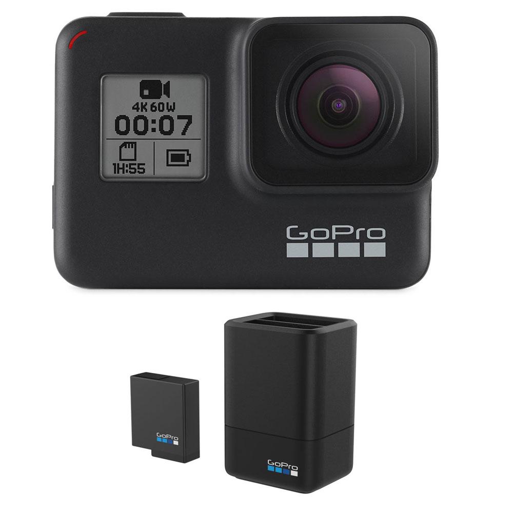 دوربین فیلم برداری ورزشی گوپرو مدل Hero 7 Black به همراه باتری و شارژر
