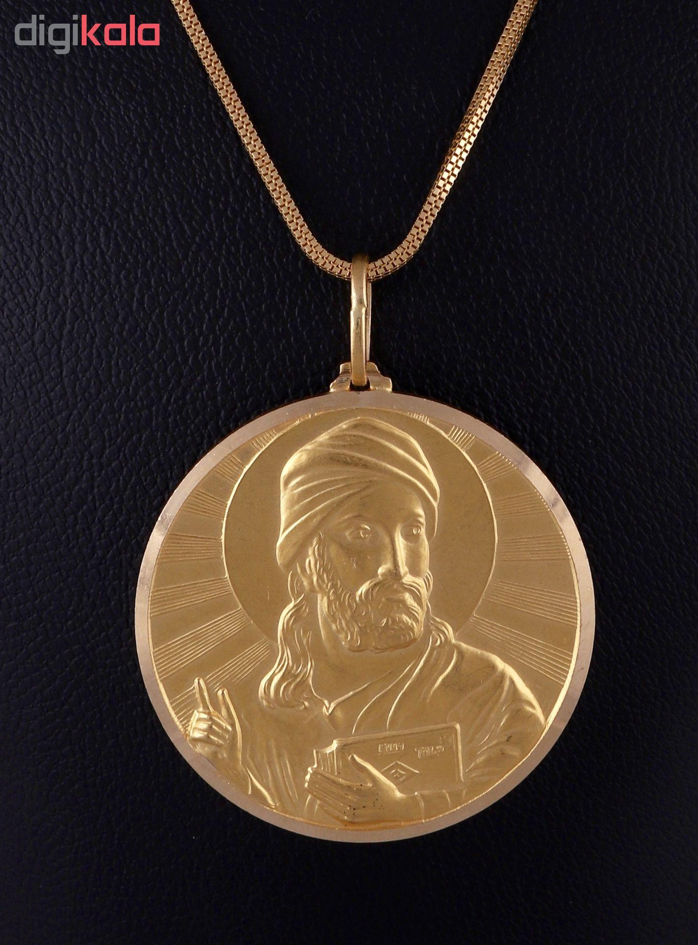گردنبند طلا 18 عیار زنانه گوی گالری مدل G372