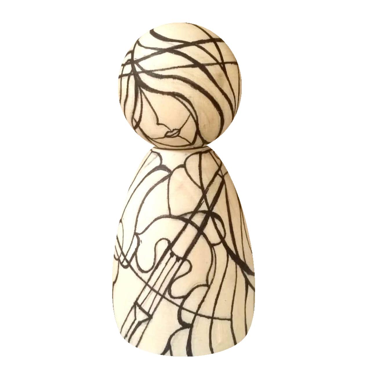 مجسمه چوبی مدل مودترکر ویولن کد01dmoodv