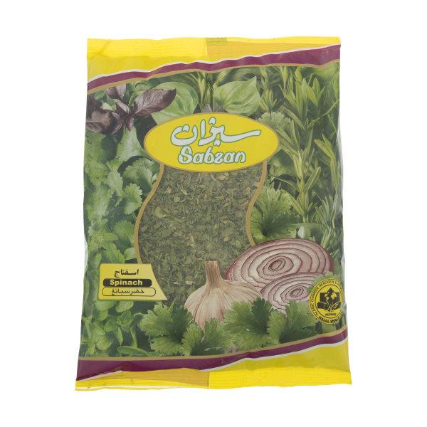 سبزی اسفناج خشک سبزان مقدار 100 گرم