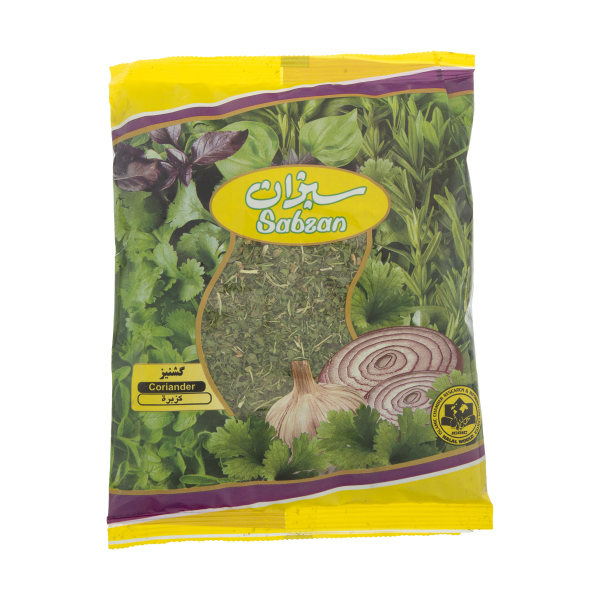 سبزی گشنیز خشک سبزان مقدار 100 گرم