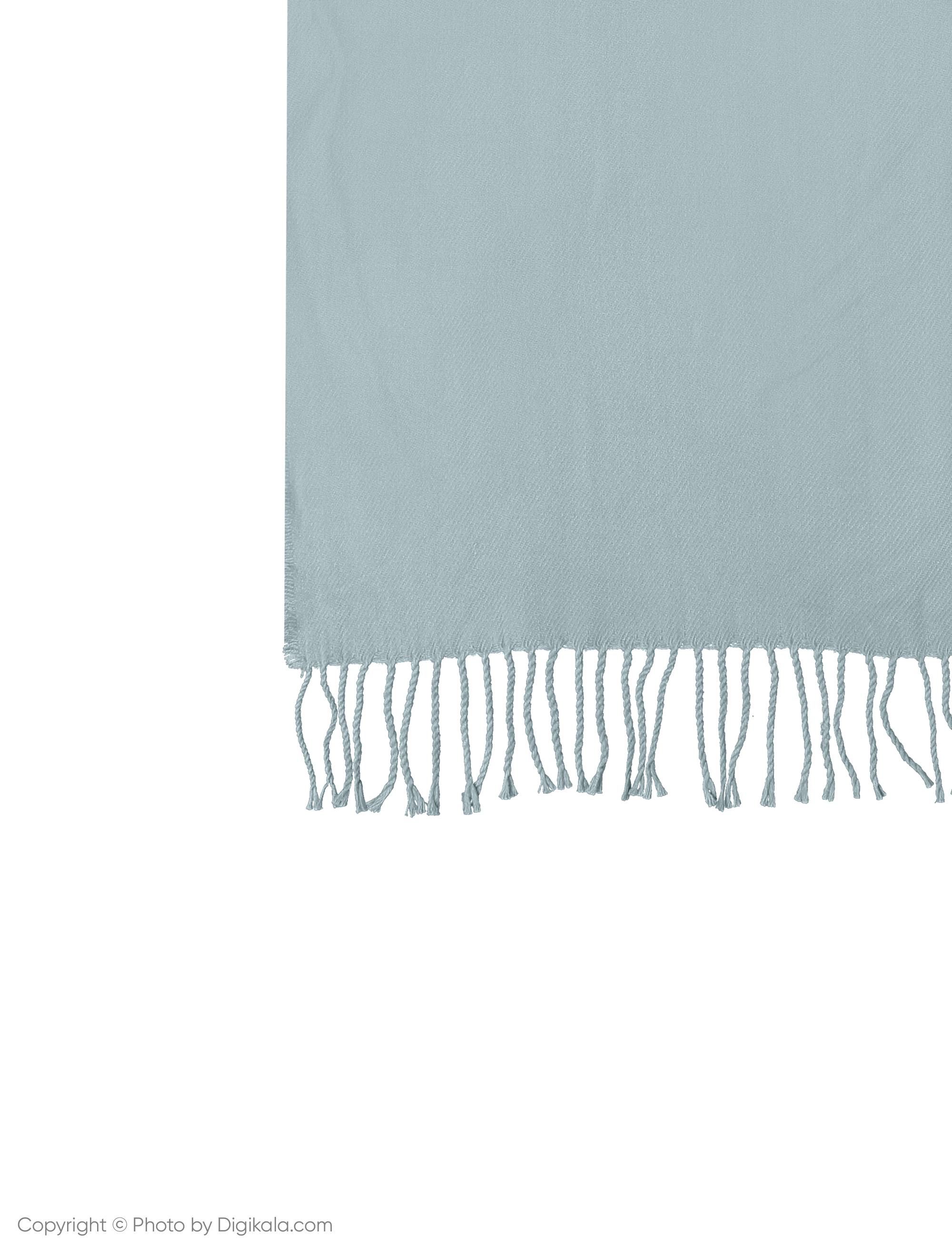شال ساده زنانه - مانگو - آبی روشن - 3