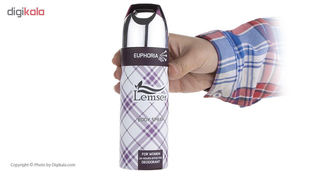 اسپری خوشبو کننده بدن زنانه لمسر مدل Euphoria حجم 200 میلی لیتر main 1 4