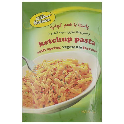پاستا با طعم کچاپ سبزان وزن 180 گرم