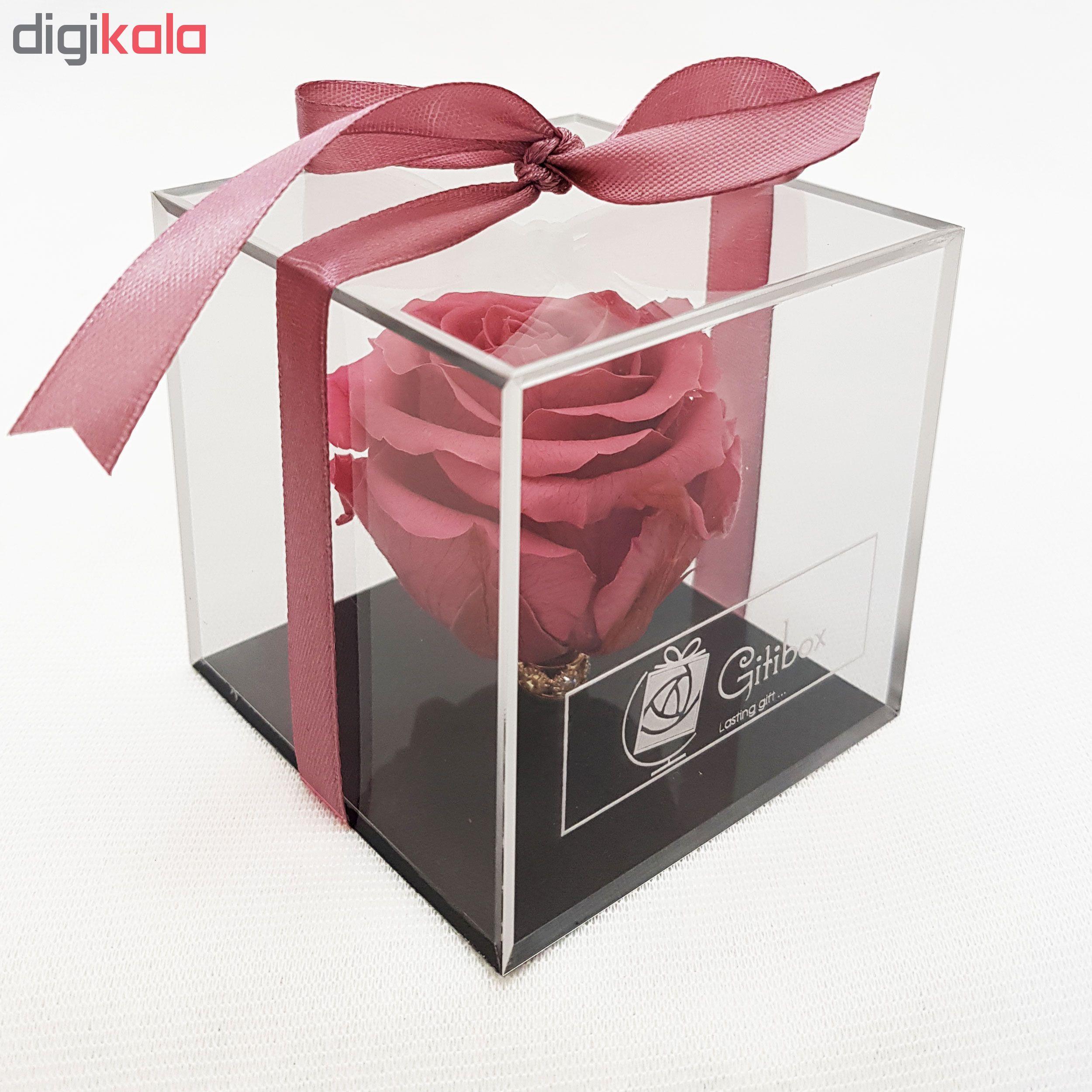 جعبه گل رز جاودان گیتی باکس مدل کیوب 004