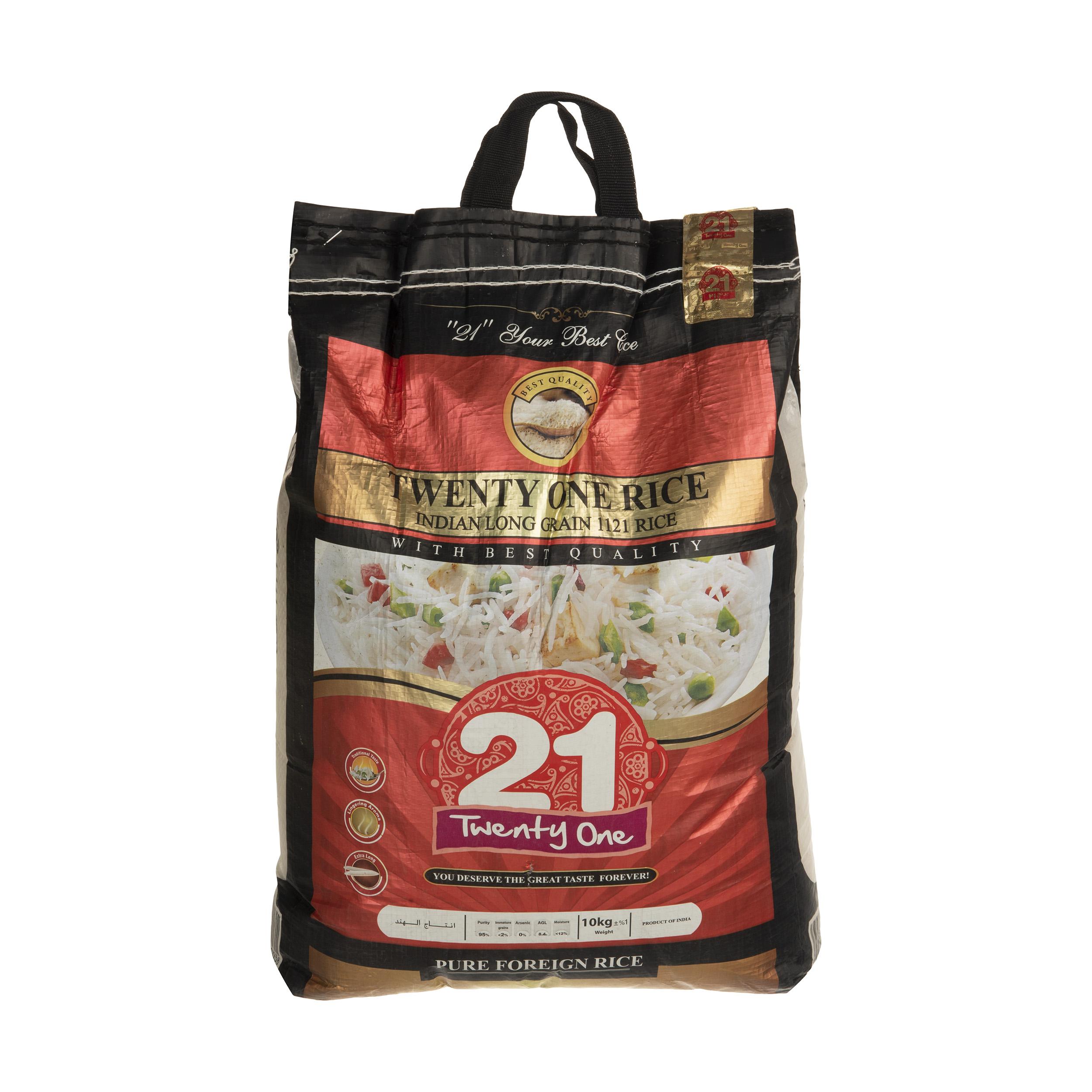 برنج هندی بیست و یک وزن 10 کیلوگرم