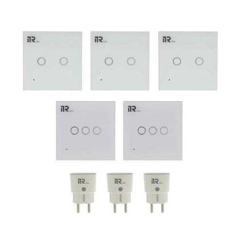 کلید هوشمند آی تی آر مدل EU-8P مجموعه 5 عددی به همراه 3 عدد پریز هوشمند
