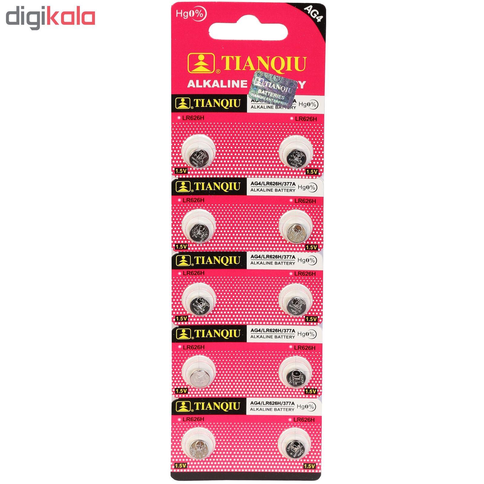 باتری ساعتی تیانکیو مدل AG4 بسته 10 عددی main 1 1