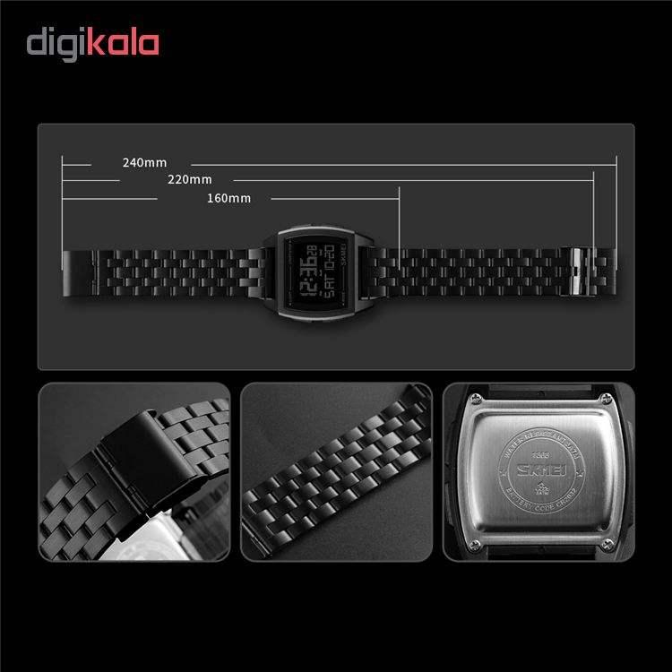 ساعت مچی دیجیتال اسکمی کد 1368B -  - 4