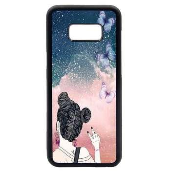 کاور طرح دختر کد 1105408538 مناسب برای گوشی موبایل سامسونگ galaxy s8 plus