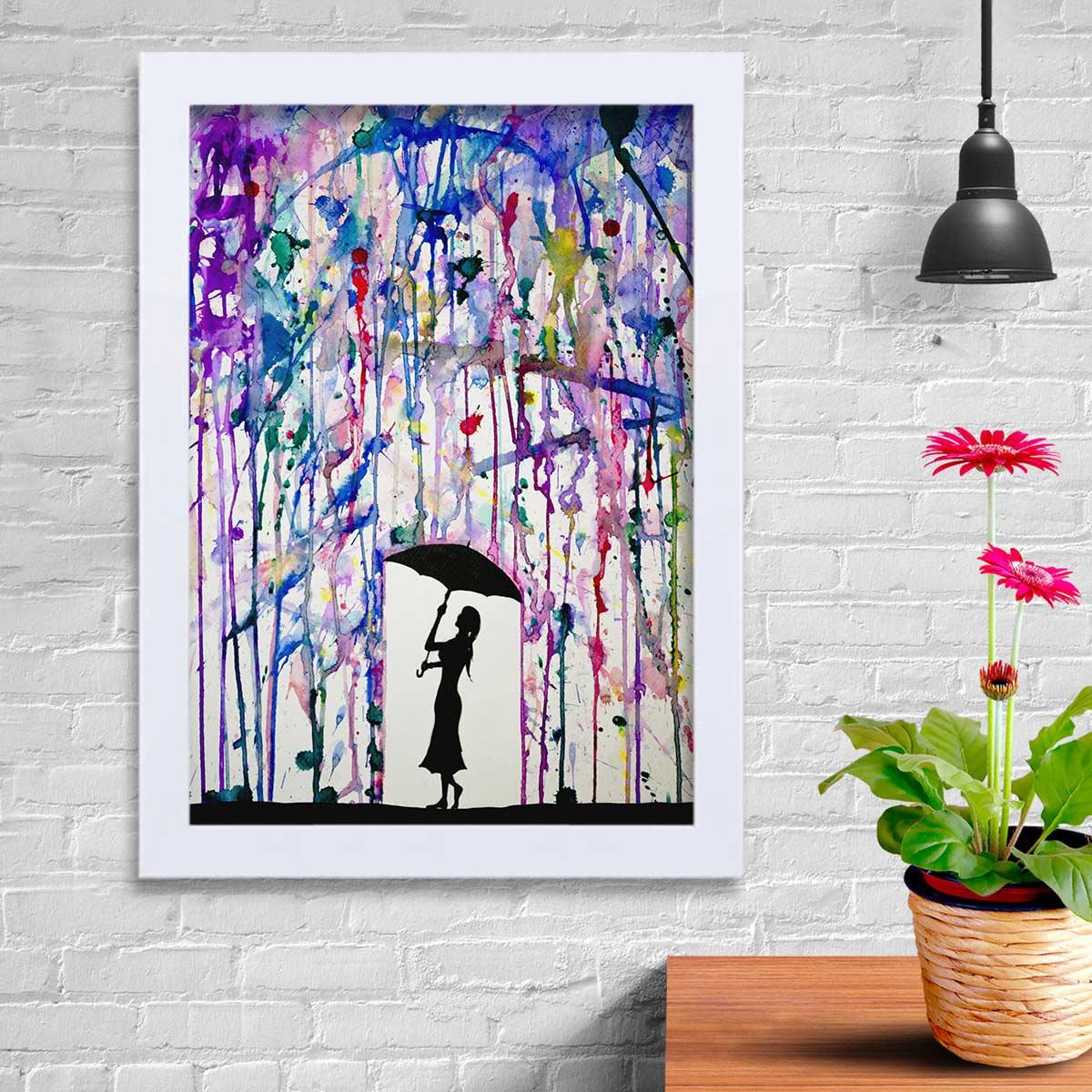 تابلو   گالری استاربوی طرح دخترانه و چتر مدل هنری KL85