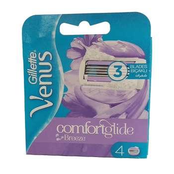 تیغ یدک ژیلت مدل Venus Comfortglide بسته 4 عددی