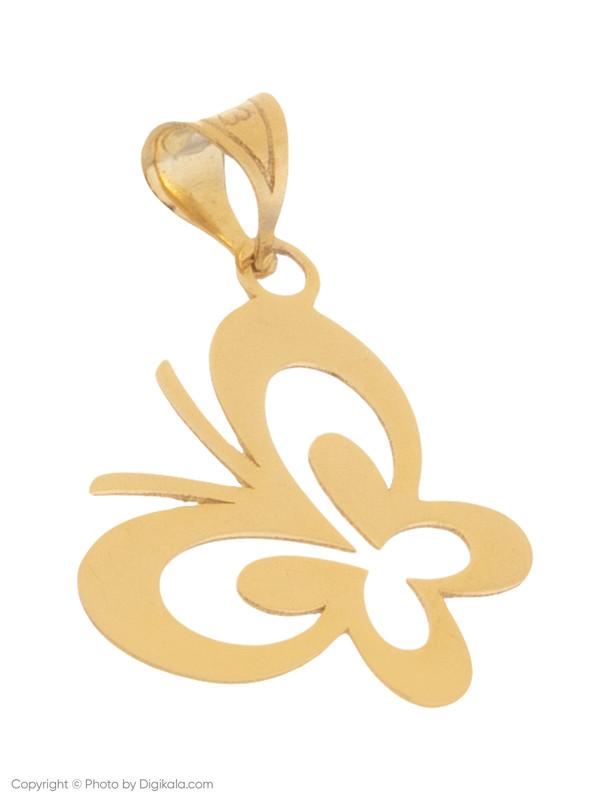 آویز گردنبند طلا 18 عیار زنانه میو استار مدل N018