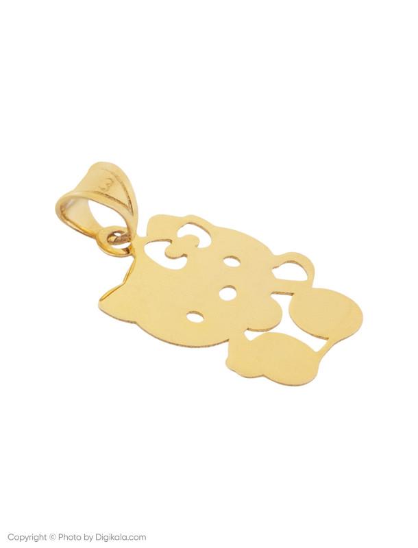 آویز گردنبند طلا 18 عیار زنانه میو گلد مدل N092