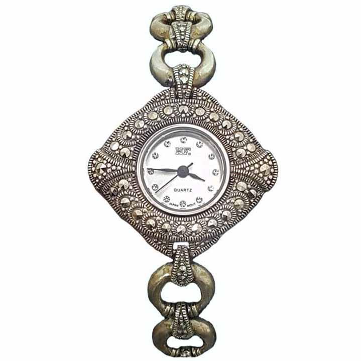 ساعت مچی عقربه ای زنانه نقره ترمه 1 مدل WT09