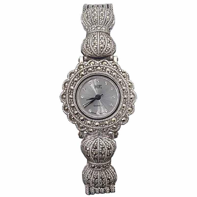 ساعت مچی عقربه ای زنانه نقره ترمه 1 مدل WT05 8