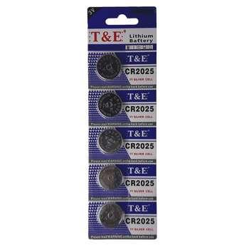 باتری سکه ای تی اند ای مدل CR2025 بسته 5 عددی