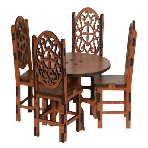 ماکت دکوری طرح میز و صندلی ناهار خوری مدل m1