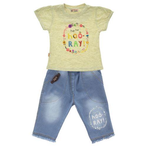 ست تی شرت و شلوارک دخترانه کد 416-01