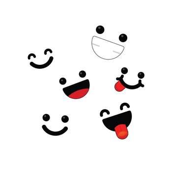 استیکر لپ تاپ طرح Emoji-1 مجموعه ۶ عددی