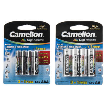 باتری قلمی و نیمقلمی کملیون مدل Digi Alkaline بسته 8 عددی