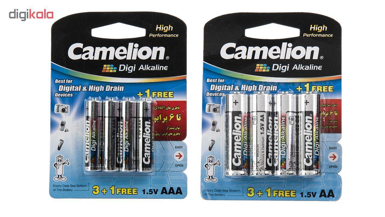 باتری قلمی و نیمقلمی کملیون مدل Digi Alkaline بسته 8 عددی main 1 1