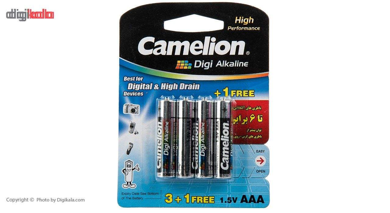 باتری قلمی و نیمقلمی کملیون مدل Digi Alkaline بسته 8 عددی main 1 2