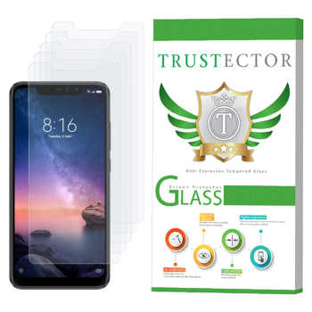 محافظ صفحه نمایش تراستکتور مدل GLS مناسب برای گوشی موبایل شیائومی  Redmi Note 6 Pro بسته 5 عددی