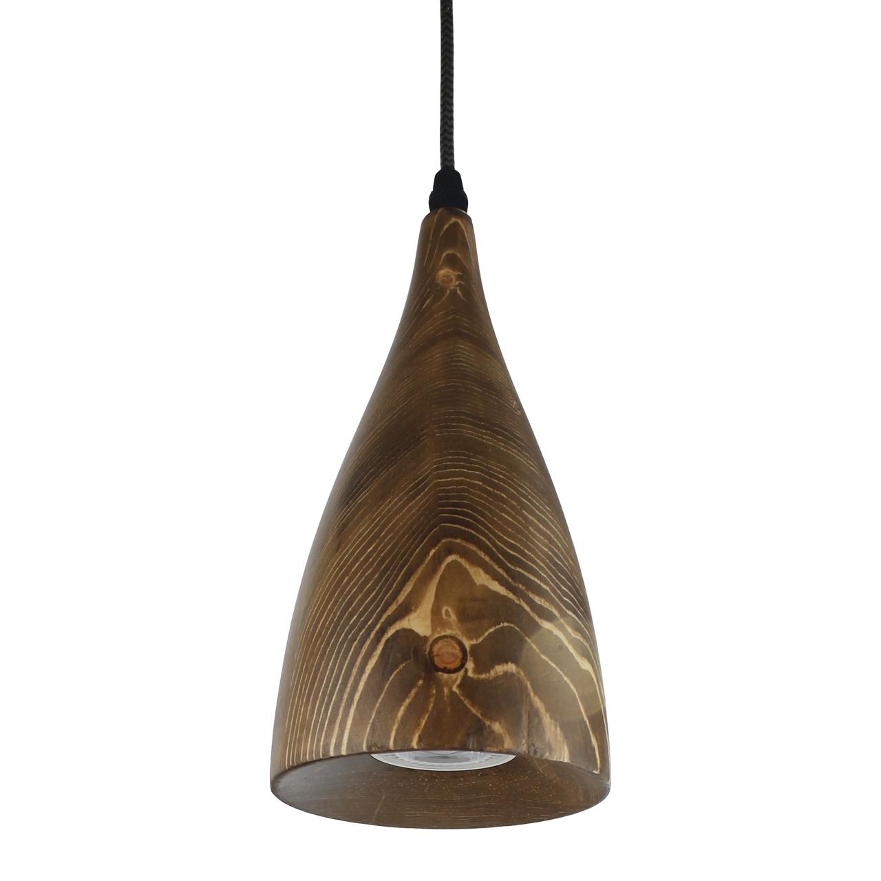 چراغ آویز تمام چوبی با لامپ انگاره مدل ASA 2