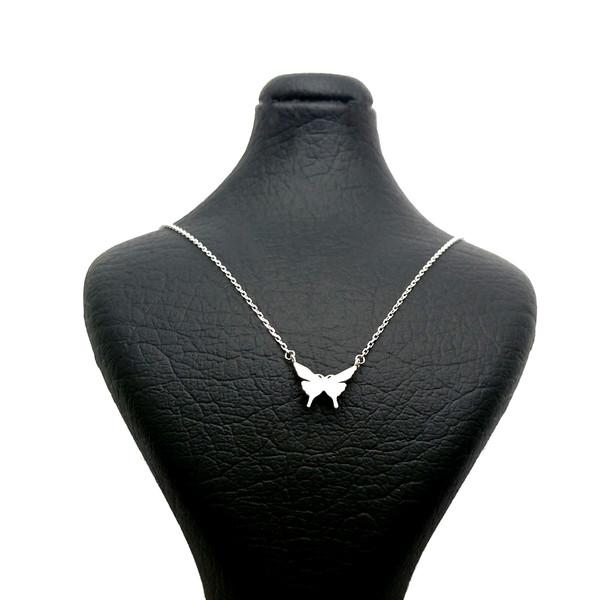 گردنبند نقره زنانه طرح پروانه کد N87199