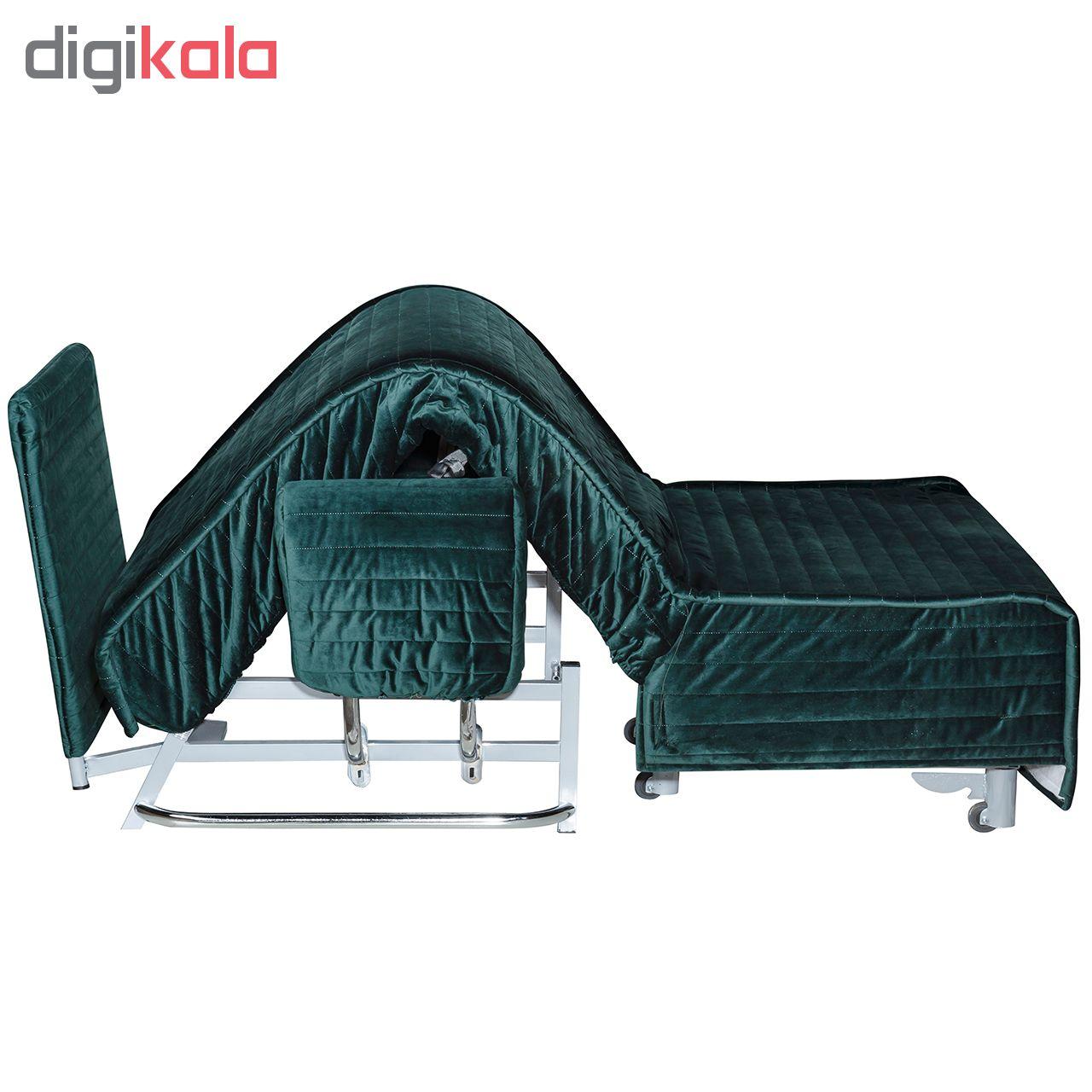 مبل تخت شو یک نفره چشمه نور مدل MA-502/80-DGR