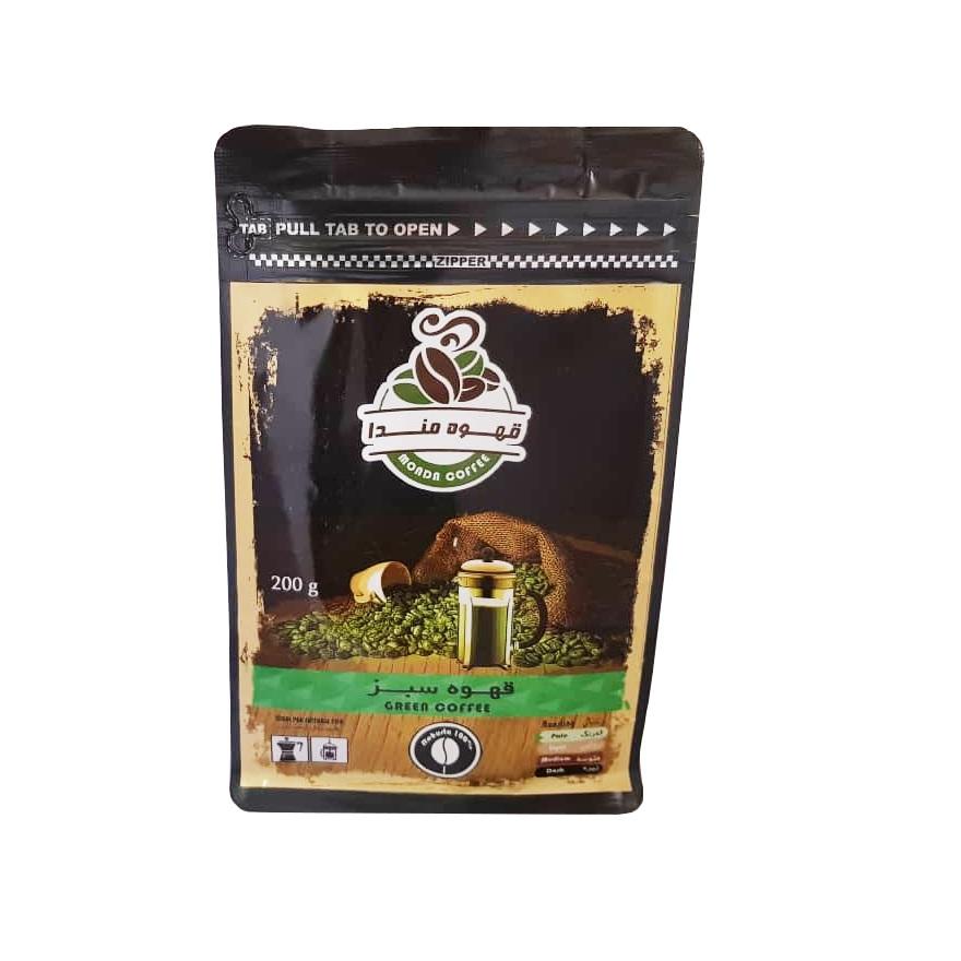 پودر قهوه سبز مندا مقدار 200 گرم
