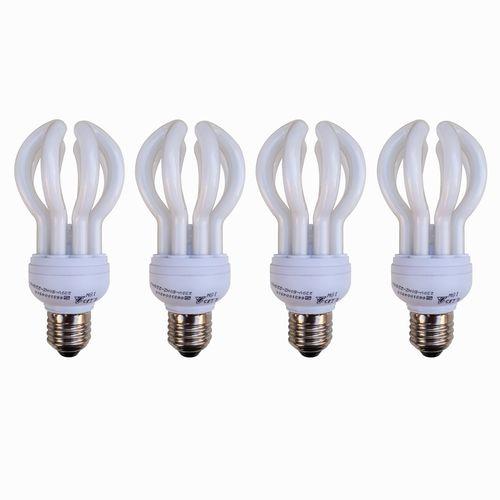 لامپ کم مصرف 18 وات دلتا مدل لوتوس پایه E27 بسته 4 عددی