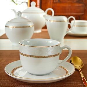 سرویس چای خوری 12 پارچه چینی زرین ایران سری ایتالیا اف طرح Gift2
