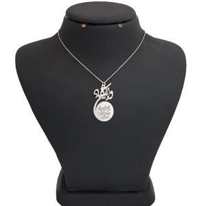 گردنبند نقره زنانه طرح وان یکاد کد 1