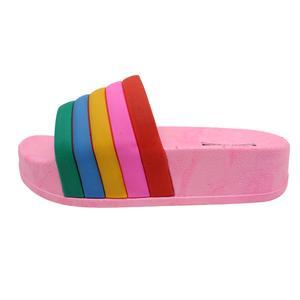 دمپایی دخترانه نیکتا طرح رنگین کمان کد K1-PK