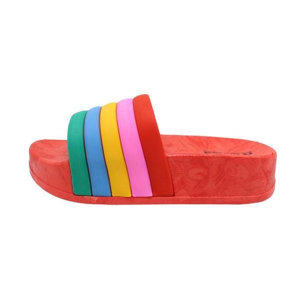 دمپایی دخترانه نیکتا طرح رنگین کمان کد K1-RD