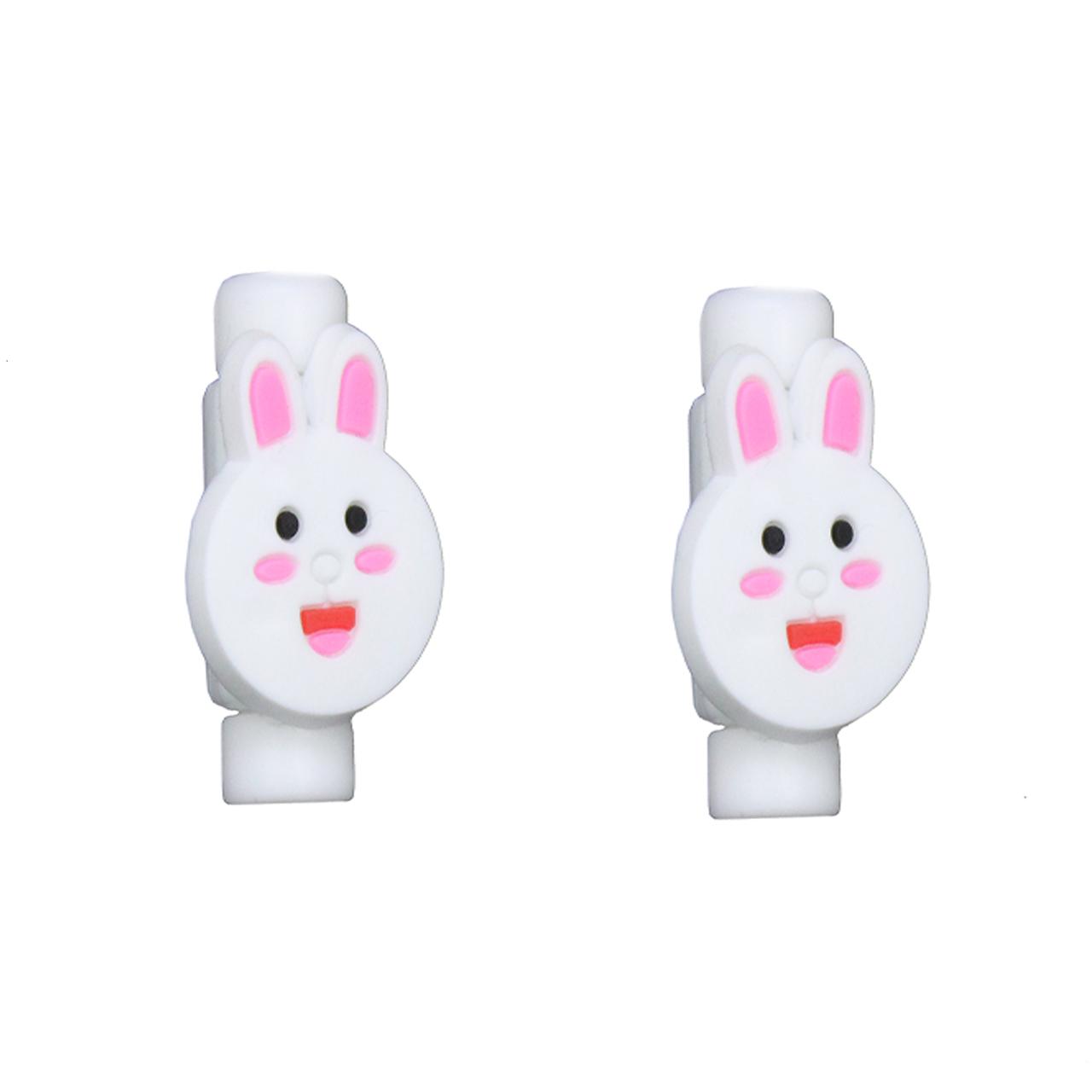 بررسی و {خرید با تخفیف} محافظ کابل طرح Rabbit 1 بسته 2 عددی اصل